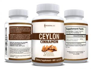 Cinnamon Supplement Capsules via Amazon