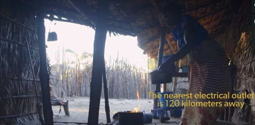 cooking in huts with no electricity