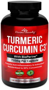 Turmeric Curcumin C3 with BioPerine Black Pepper Gluten free, Non-GMO