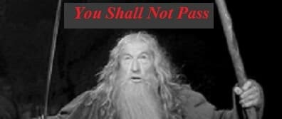 You Shall Not Pass Gandolf