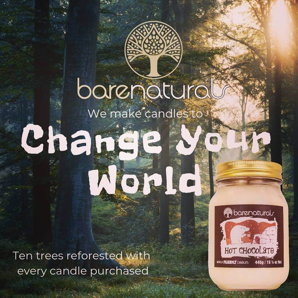 Ten Trees Planted for One Candle Sold Change Your World with Barenaturals